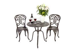 Iron Table And Chairs Patio Furniture Enjoy Your Dining Time With Bistro Table And Chairs