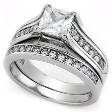 bridal sets for princess cut cz wedding ring sets for 1 carat cz