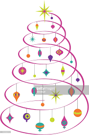 spiral christmas tree abstract spiral christmas tree vector getty images
