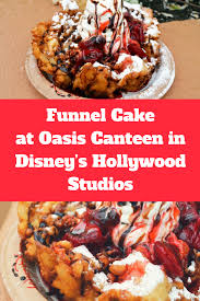 review funnel cake with strawberry topping and soft serve vanilla