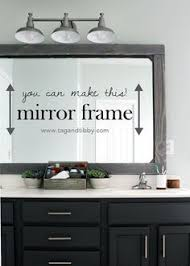 bathroom mirror frame ideas how to frame out that builder basic bathroom mirror for 20 or