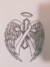 cross with ribbon drawing at getdrawings com free for personal use