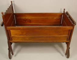 igavel auctions oak crib cradle circa 1910 lxa5
