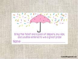 raffle baby shower baby shower raffle ticket sprinkle umbrella