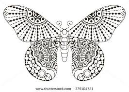 butterfly vintage decorative elements mandalas oriental stock