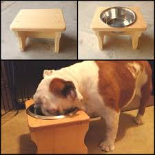 Wall Mount Pet Feeder Diy Elevated Dog Feeder 11 Stool From Hobby Lobby Use A 40 Off