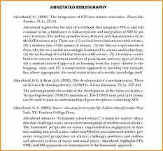 how to write an annotated bibliography apa 6th