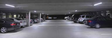 led lighting chosen for dallas garage facility executive interior of garage with led lighting