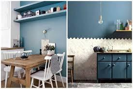 cuisine mur bleu osez une déco couleur bleu canard dans votre intérieur
