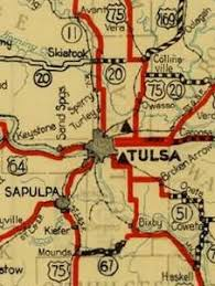 map of tulsa end of us highway 169 us ends com