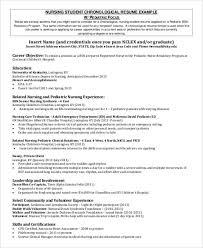 Sample Nursing Resume Objective by Nursing Student Resume Pre Nursing Student Resume Sample Nursing