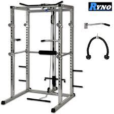 ryno ultimate heavy duty power rack silver black