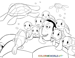 finding nemo coloring pages free printable finding nemo pdf