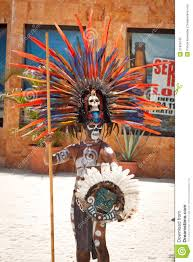 mayan in ornamental feather headdress editorial image image