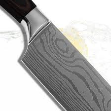 xyj brand kitchenware 7 inch santoku stainless steel kitchen knife