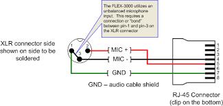 flex 3000 to 3 pin female xlr audio interface configuration