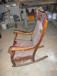 Nursery Upholstered Rocking Chairs by Custom Made Antique Oak Rocking Chair By Jp Design Build Repair