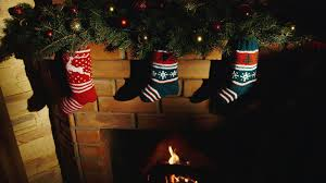 we are waiting for santa claus socks for gifts hanging over the