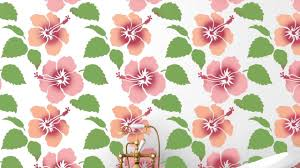 Tropical Decor Hibiscus Flower Stencil Perfect For Tropical Decor Youtube