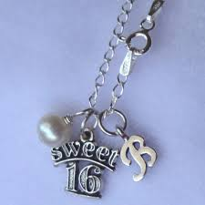 monogrammed necklace sweet 16 birthstone initial necklaces initial monogrammed