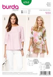 style blouse burda 6761 burda style tops shirts blouses