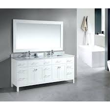 Marble Top Double Vanity Vanities Austell 67 In Double Vanity In White With Natural