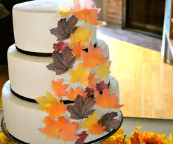 thanksgiving cake decorating ideas wedding cake topper edible fall leaves assorted set of 32