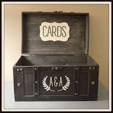 Wedding Gift Card Holder Wedding Card Box Black Vintage Wedding Cardbox Holder Trunk