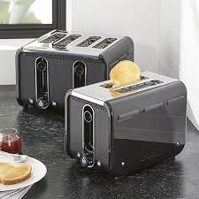Calphalon 4 Slot Stainless Steel Toaster Studio By Dualit Black Stainless Steel Toaster Crate And Barrel