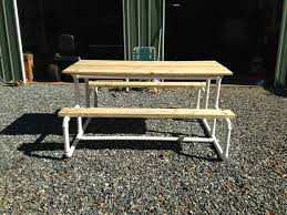 Replacement Cushions For Pvc Patio Furniture - picnic table make with pvc pipe the yard pinterest pvc pipe