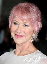 hairstyles for ova 60s helen mirren pink short hair 2014 short hairstyle for women over