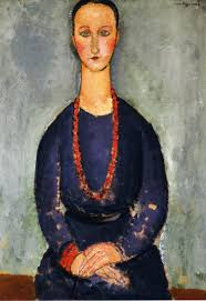 modigliani woman with a fan portrait of olga 1920 pablo picasso wikiart org