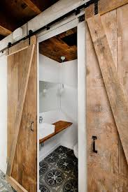 Barn Sliding Doors by Traditional Barn Sliding Doors For White Bathroom With Floating