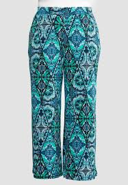 moroccan tile moroccan tile palazzo pants plus wide leg cato fashions
