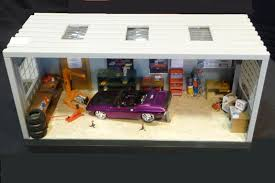 sold building models speed shop diorama and garage diorama and
