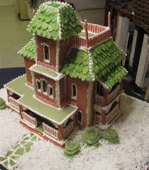 pattern for large gingerbread house painted lady gingerbread house