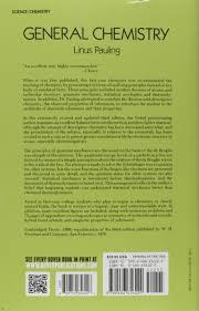 general chemistry linus pauling 9780486656229 books amazon ca