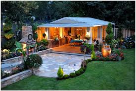 Outdoor Patio Lighting by Backyards Appealing Backyard Landscape Lighting Backyard