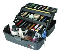 artbin paint box three tray plastic artist box for storage