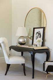 Black Desk And Chair Design Ideas Black Desk With Cabriole Legs With White Chair