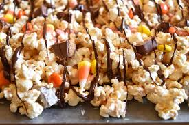 popcorn for halloween candy bar popcorn happy halloween