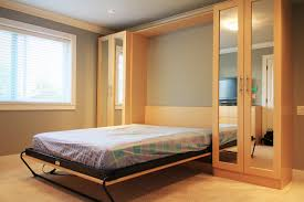 murphy bed with mirror wardrobes