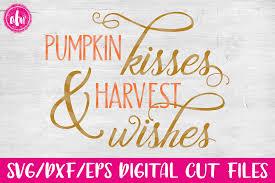 free pumpkin svg pumpkin kisses u0026 harvest wishes svg design bundles