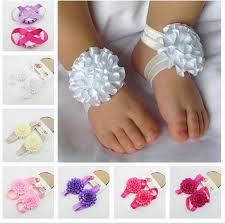 baby ribbon 2017 baby barefoot sandals baby ribbon bows baby shoes handmade