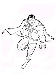 free superman coloring pages print super heroes coloring