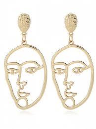 golden earrings alloy mask earrings golden earrings zaful