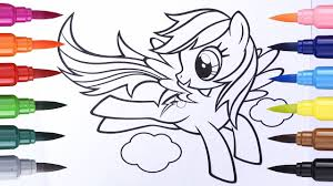 coloring pages my little pony how to draw rainbow dash learn