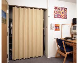 Folding Closet Door Simple Bedroom With Oak Finish Residential Accordion Folding