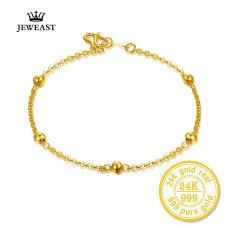 gold fine bracelet images 24k pure gold bracelet lady women genuine real solid bangle smooth jpg