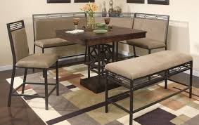 Dining Room Table Sets With Bench Bench Dramatic Corner Bench Dining Room Table Set Eye Catching